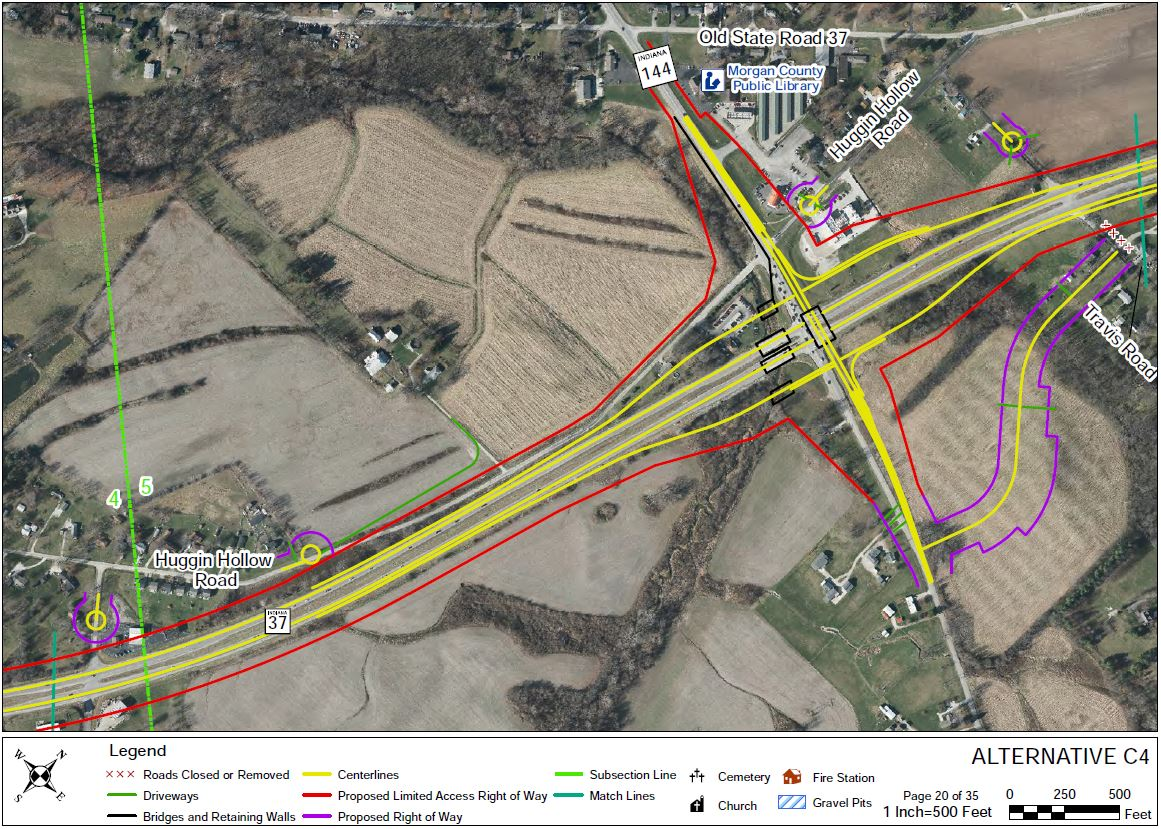 I69 Indiana Map.I 69 Section 6 Maps Comments Johnson County Center Grove Indot